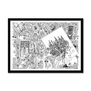 Seven cities Framed Print