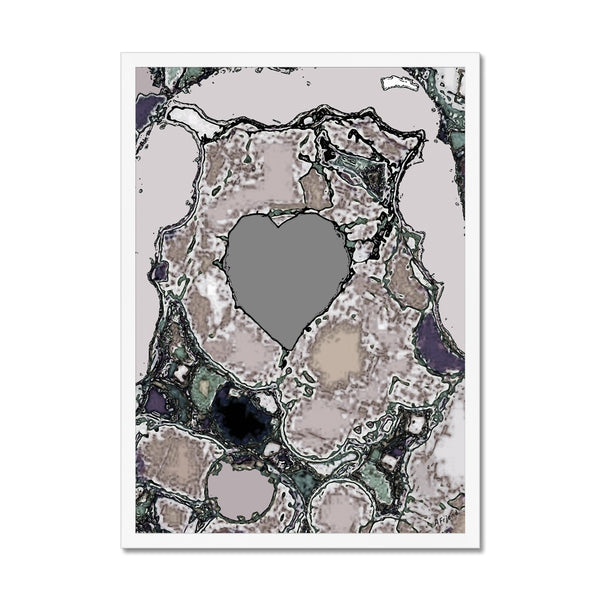 A heart of stone Framed Print