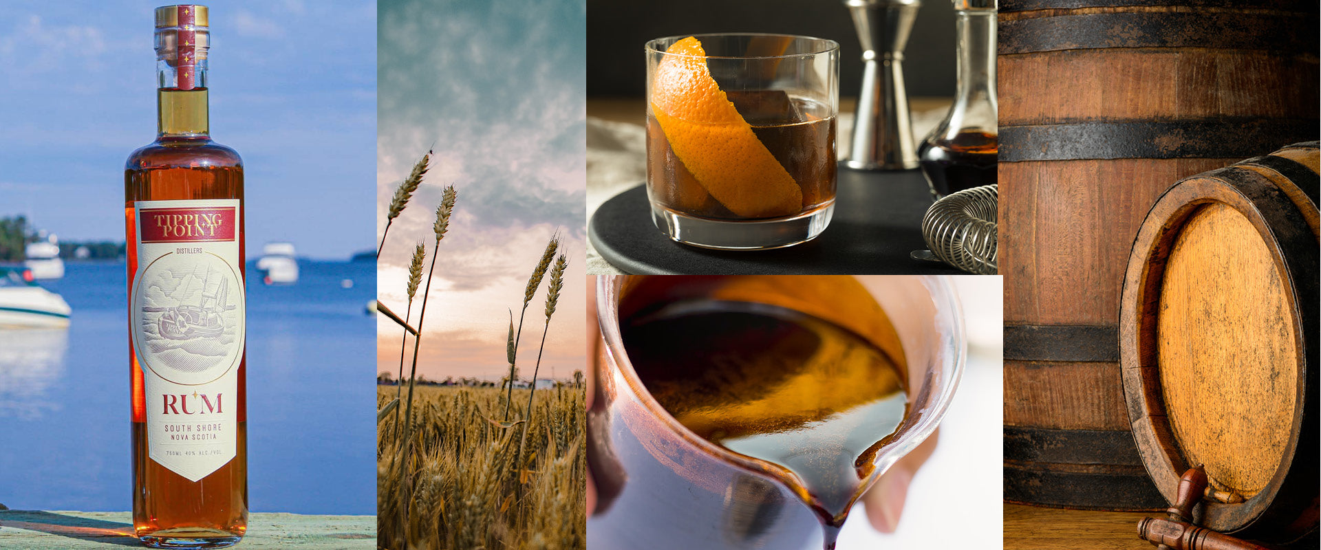 Collage with TIpping Point Rum