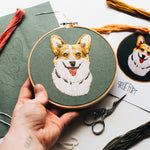 "Load image into Gallery viewer, Hand Embroidery KIT ""CORGI"""