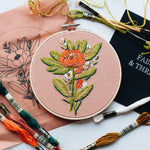 "Load image into Gallery viewer, Hand Embroidery KIT ""Soft Orange"""
