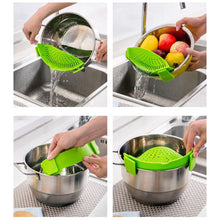 Load image into Gallery viewer, Clip-On Silicone Food Strainer