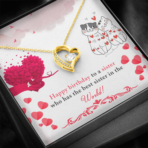 Happy Birthday Effie Forever Love Heart Necklace 14k White Gold Finish Personalized Name Gifts
