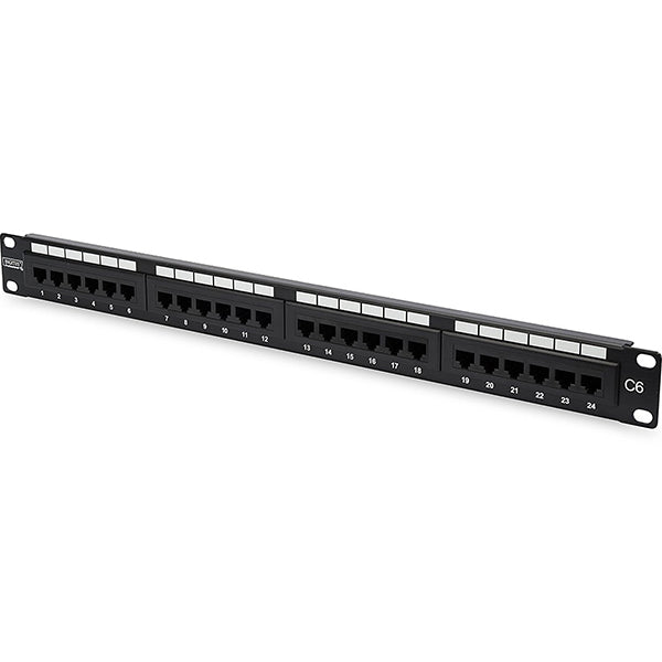 DIGITUS PATCH PANEL 19 24P CAT6 1U UTP PRETO
