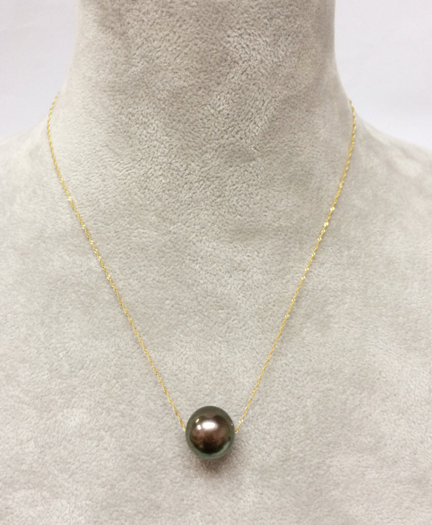 One Pearl in 14K Yellow Gold Chain Necklace