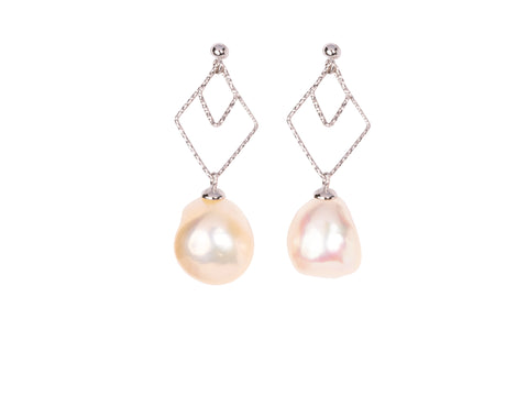 Silver Freshwater Pearls Earrings