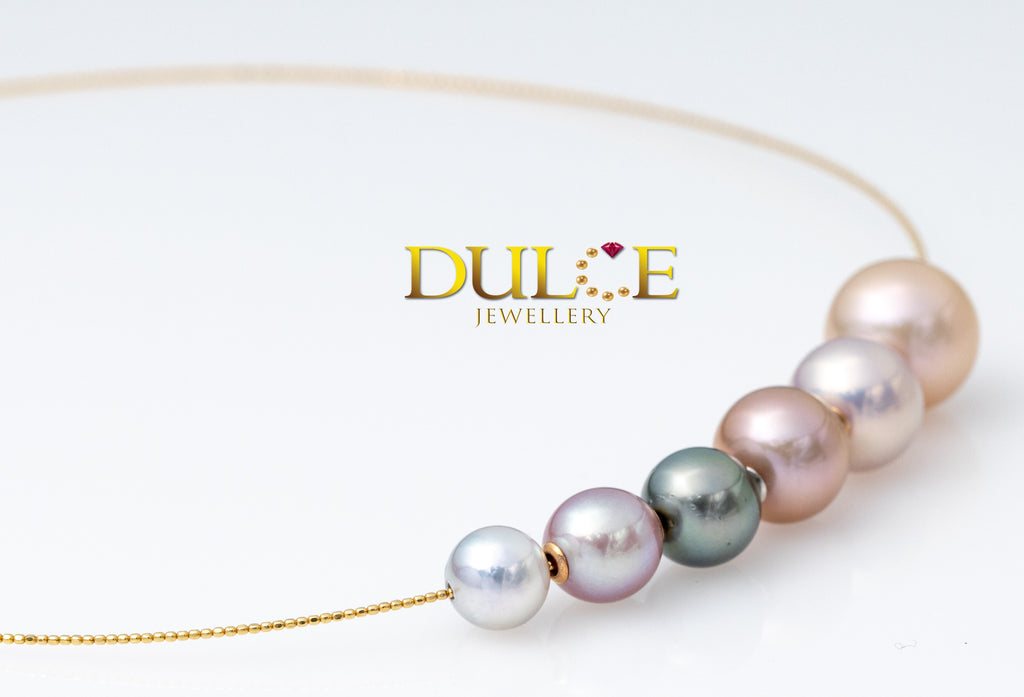 18K Gold Tahitian/ Freshwater/ Akoya Pearl Necklace (Length & pearls can be adjusted)