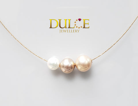 18K Gold Freshwater Pearl & Japan Akoya Pearl Necklace (Length & pearls can be adjusted)