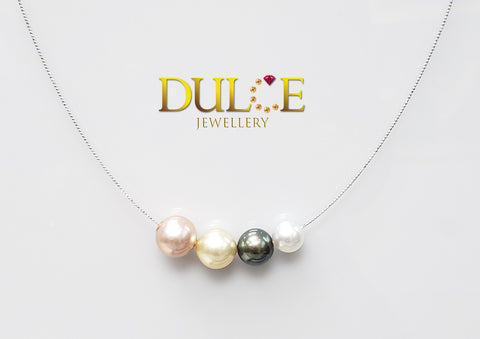 18K Gold Tahitian & Freshwater & Southsea Pearl Necklace (Length & pearls can be adjusted)