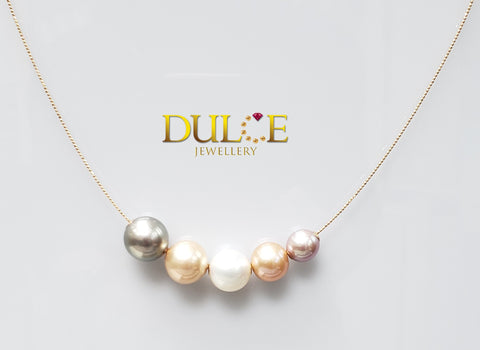 18K Gold Tahitian / Freshwater / Southsea Pearl Necklace (Length & pearls can be adjusted)