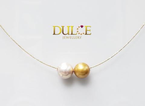 18K Gold Freshwater Pearl & Southsea Pearl Necklace (Length & pearls can be adjusted)