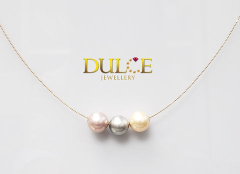 18K Gold Tahitian Pearl &  Freshwater Pearls Necklace (Length & pearls can be adjusted)