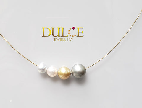 18K Gold Tahitian / Southsea / Japan Akoya Pearls Necklace (Length & pearls can be adjusted)