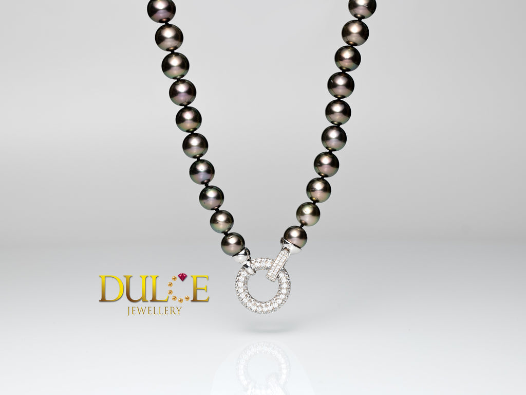 Tahitian Pearls Necklace (Silver Clasp)