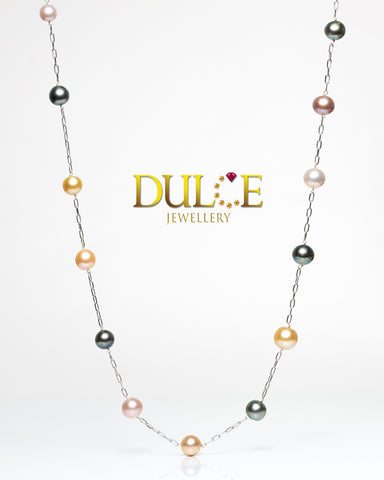 (GN913MC) 18K Gold Tahitian Pearls / Southsea Pearls / Freshwater Pearls Necklace