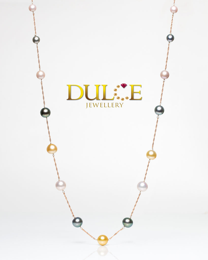 (GN811MC) 14K/18K Gold Tahitian Pearls / Southsea Pearls / Freshwater Pearls Necklace