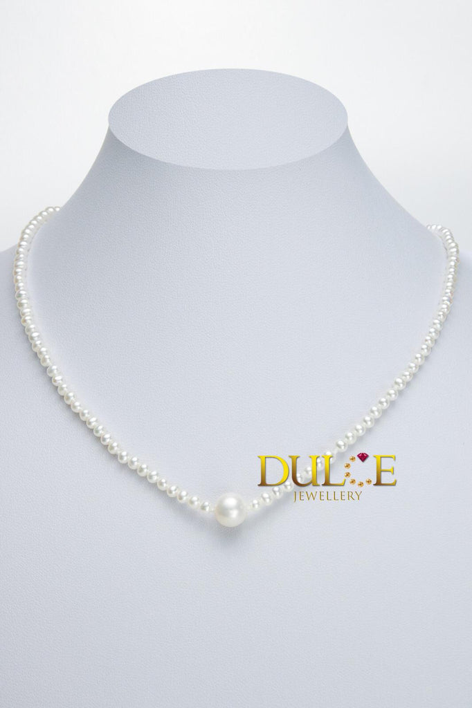 18K Gold Freshwater Pearl Necklace