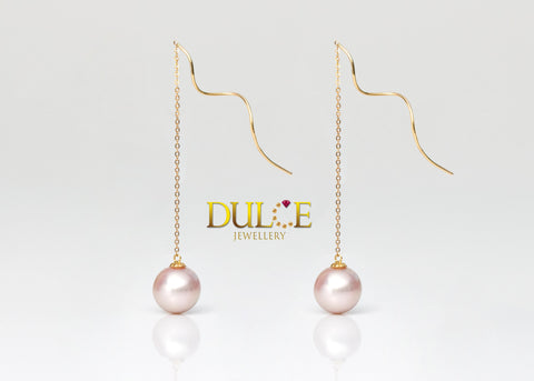 18K Gold Freshwater Pearls Earrings