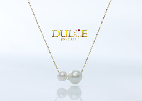 18K Gold Southsea Pearl & Japan Akoya Pearl Necklace