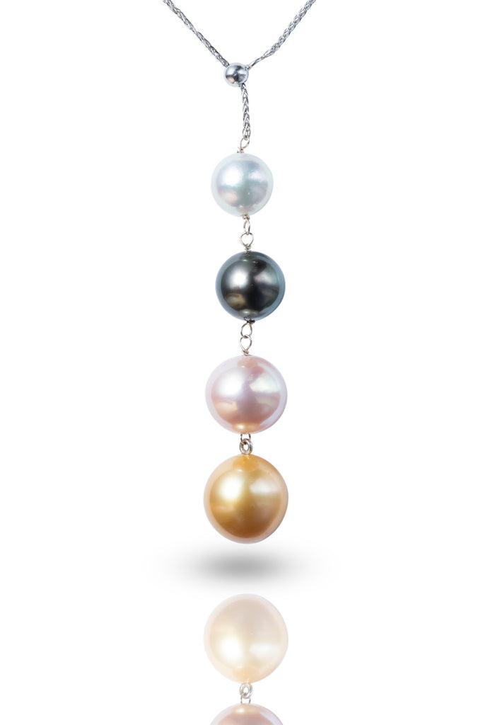 18K Gold Akoya/ Tahitian/ Freshwater/ Southsea Pearl Necklace