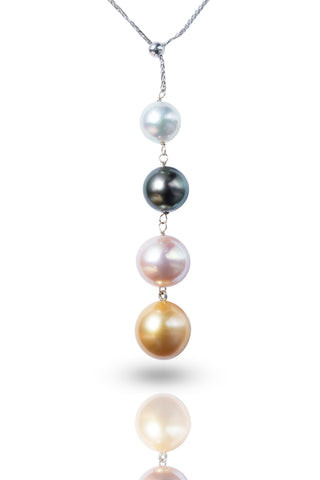 18K Gold Akoya/Tahitian/Freshwater/Southsea Pearl Necklace