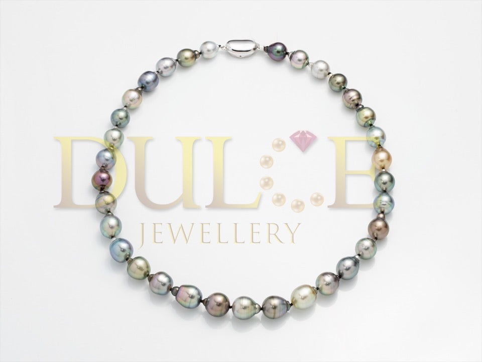 18K Gold 5mm Múltiple Color Pearl Necklace
