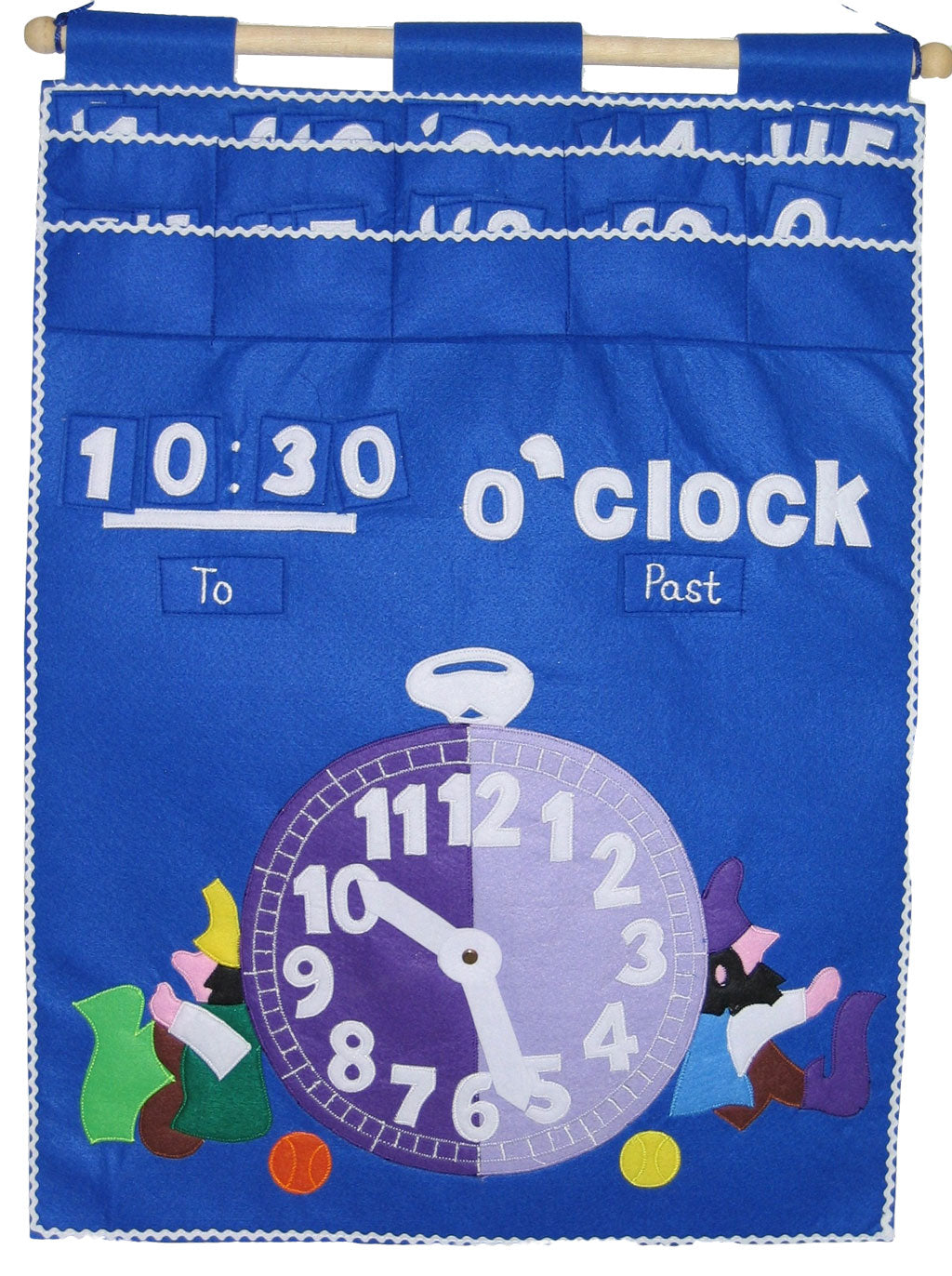 Tell the Time - Fabric Wall Chart