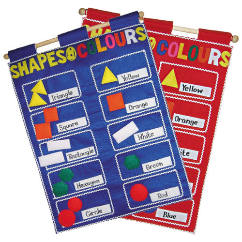 Shapes & Colours - Fabric Wall Chart