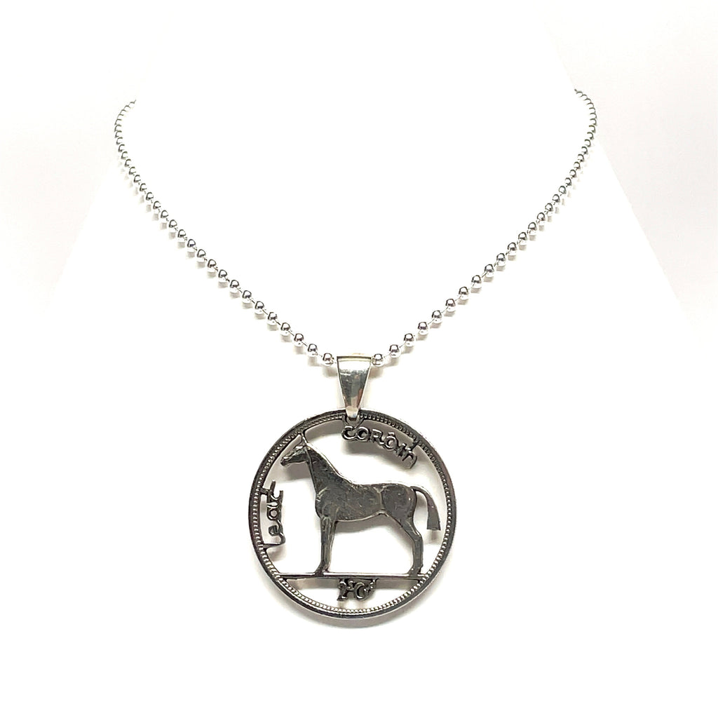 Irish coin necklace