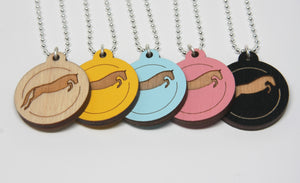 Pendants with a purpose, jumping horse necklace