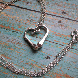 Horseshoe Nail Heart Necklace