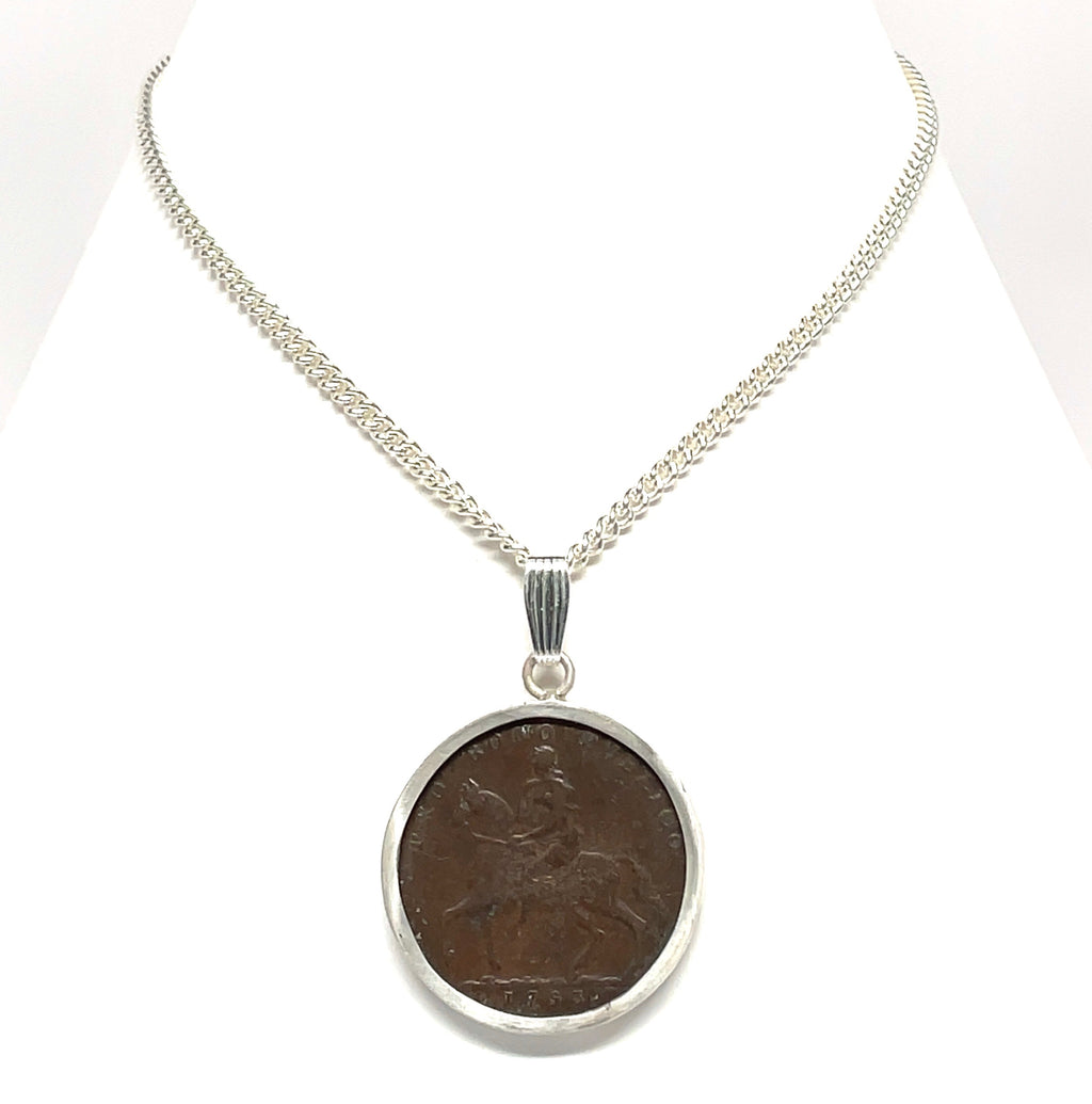 Lady Godiva coin necklace