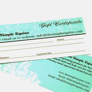 Simple Equine Gift Certificate