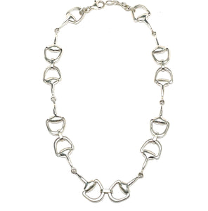 Equestrian bit necklace silver