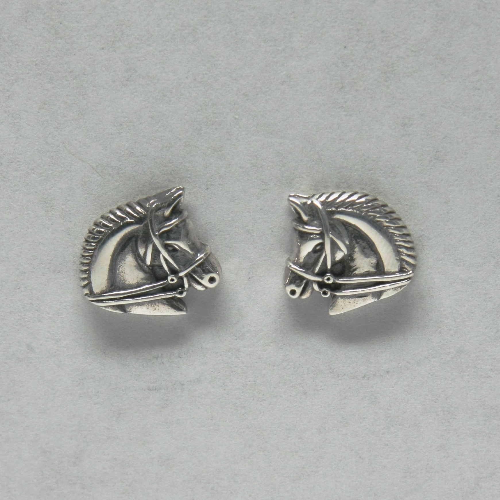 Equestrian dressage horse head earrings