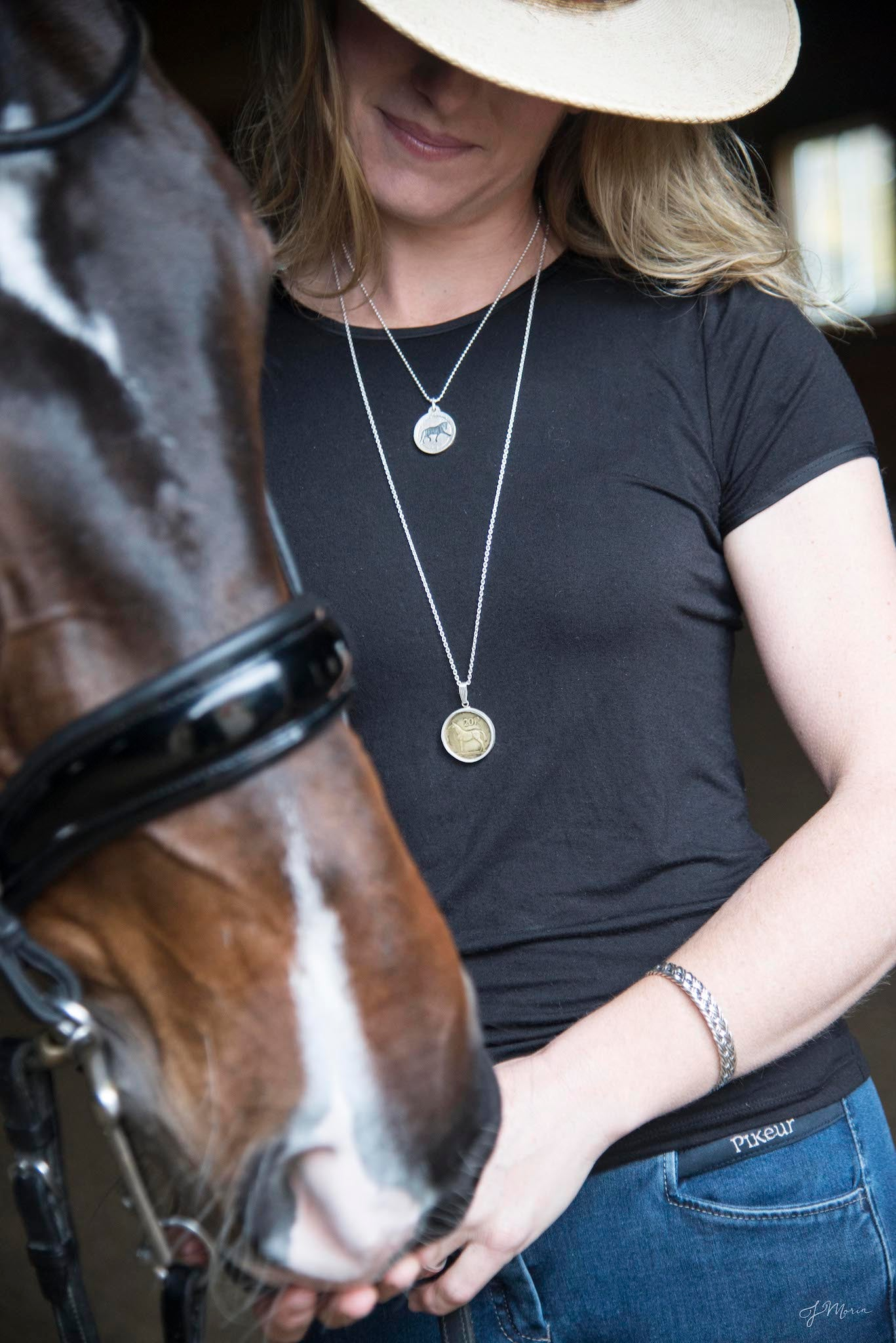 Pendants with a purpose, trotting horse, extended trot necklace