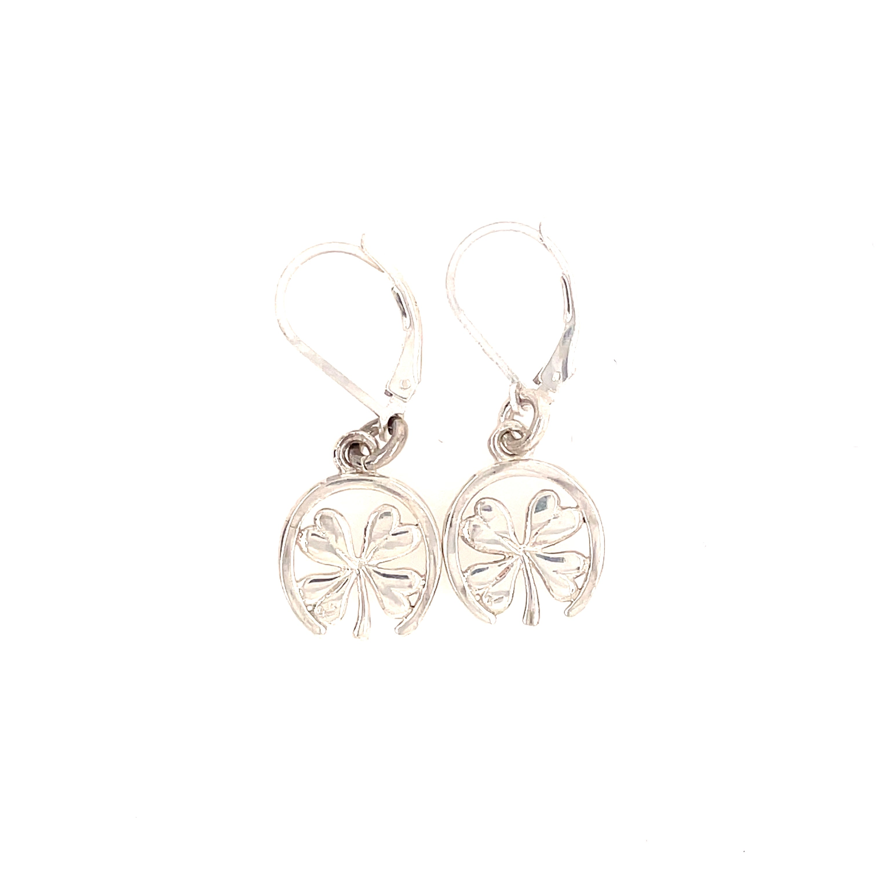 Equestrian clover and horseshoe earrings