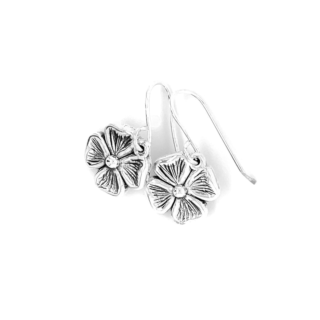 Sterling silver lucky clover earrings