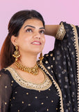 Black Georgette Lehnga