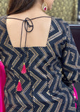 Black and Pink Trouser Suit