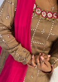 Gold and Pink Salwar Suit