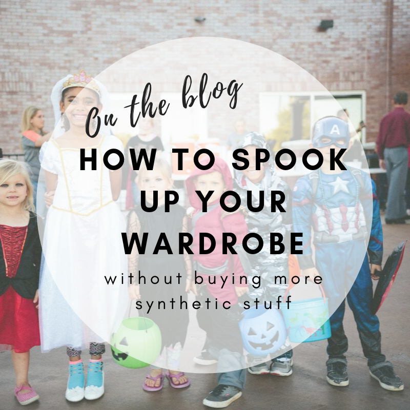 How to spook up your wardrobe without buying more synthetic stuff: DIY Halloween costumes