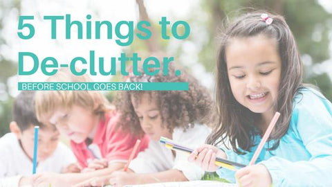 kids learning with 5 things to declutter title