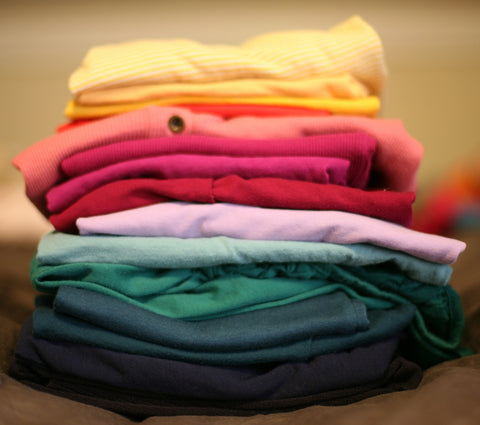 clothing folded in a pile