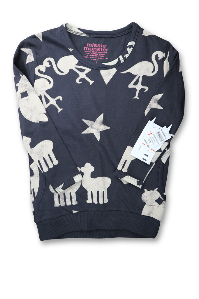 Missie Munster Jumper size 4 - Use-Ta! Preloved Children's Wear Online