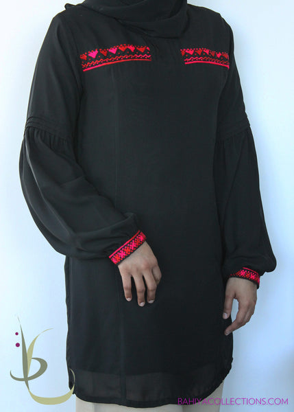 Selima Long Tunic with Hand Embroidery