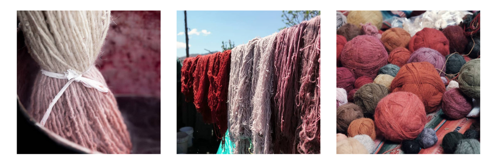 Natural dyeing process shown