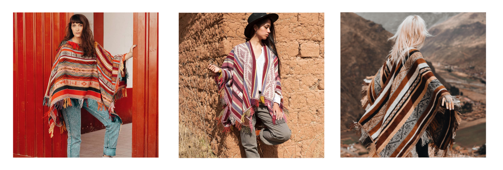 Styling ideas for the ethically made ponchos by the artisans in Peru