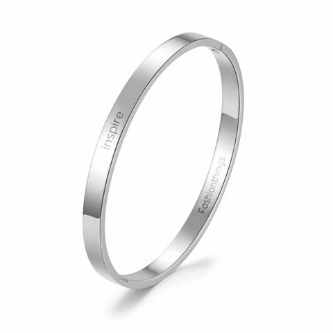 Fashionthings Bangle inspire zilver 6 mm