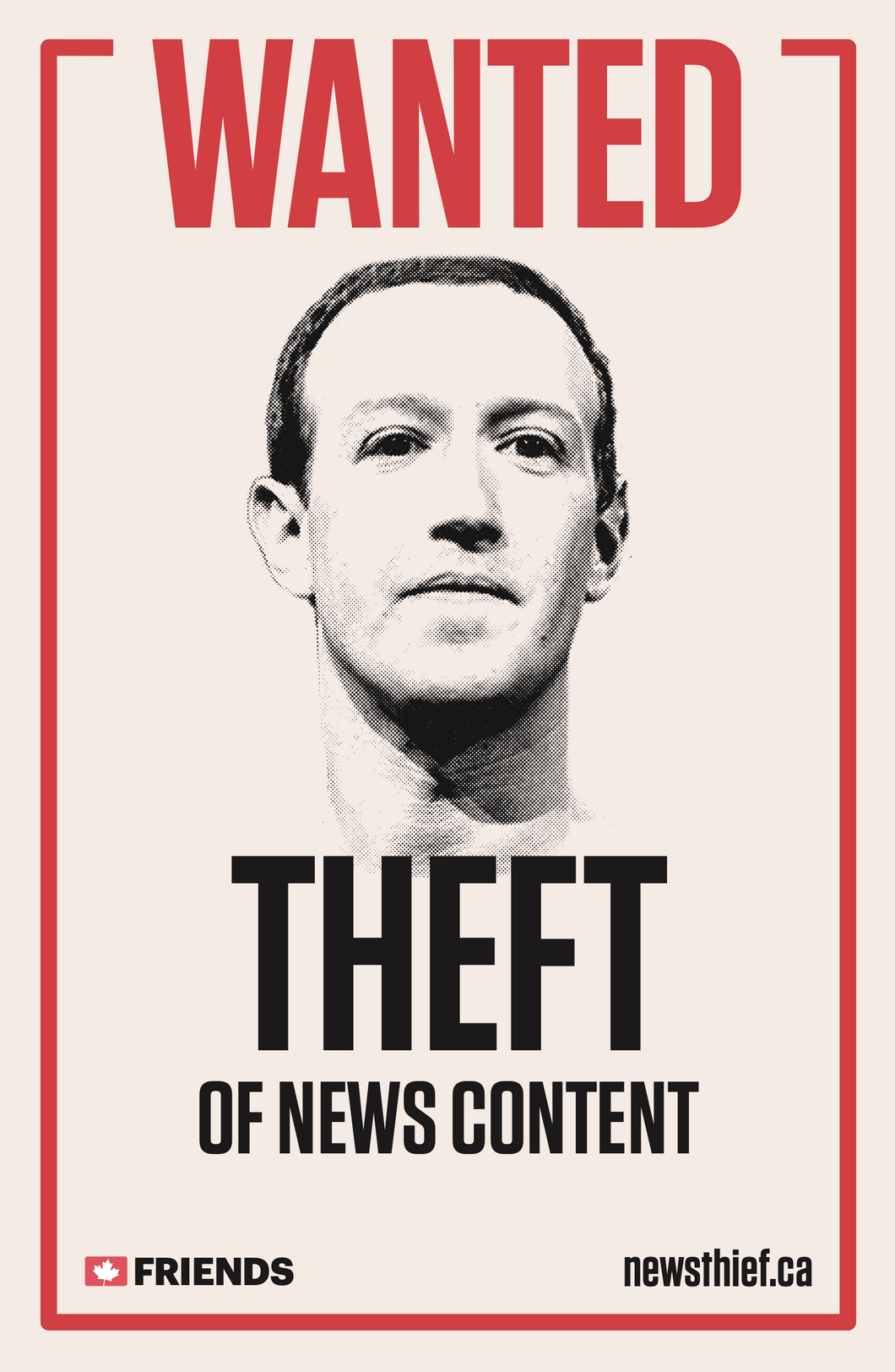 Wanted - News Thief Poster